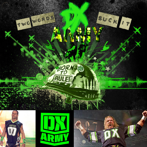 WWE D Generation X Army Triple H Shawn Michaels Jersey Small