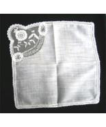 Vintage Rose Point Lace Handkerchief Drawnwork ... - $13.00