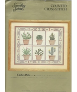 Counted Cross Stitch Kit Cactus Pots Something ... - $6.93