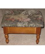 Floral Tapestry Footstool w/ Storage - $26.99