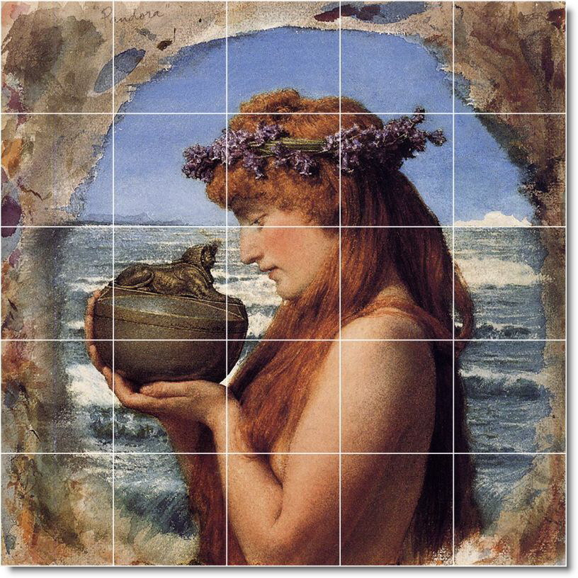 Alma-Tadema Mythology Mural Living Room Tile Modern Remodeli
