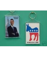 Barack Obama Democrat 2 Photo Collectible Keych... - $9.95