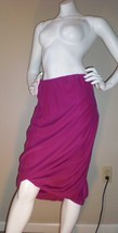 NWT Twelfth Street by Cynthia Vincent fuschia skirt! 100% Si -