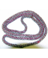 Art Deco Vintage Glass Seed Bead Necklace Cord ... - $7.50