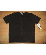 Ladies SAG HARBOR Sweater Small Black Short Sle... - $9.99