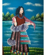 Colorful Print On Canvas Of Woman - $24.97