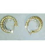 10 K Two Tone (Yellow & White) Gold latch back ... - $95.00