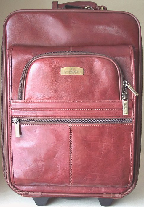 San Babila Cognac Brown Leather Trolley Case