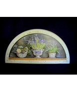 Wall Plaque Decor Purple Iris Spring Garden Kat... - $19.99