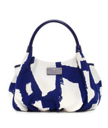 NWT KATE SPADE Art Noir Small Karen Royal Blue Cream Shoulder Bag ($298)