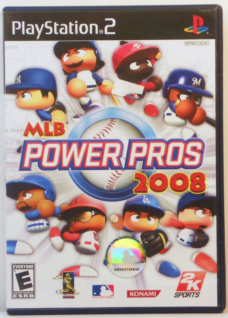MLB Power Pros 2008 Sony PS2 video game 2008