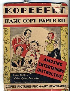 1935 Embree Mfg Toy KOPEEFUN Magic Copy Paper Kit Compl