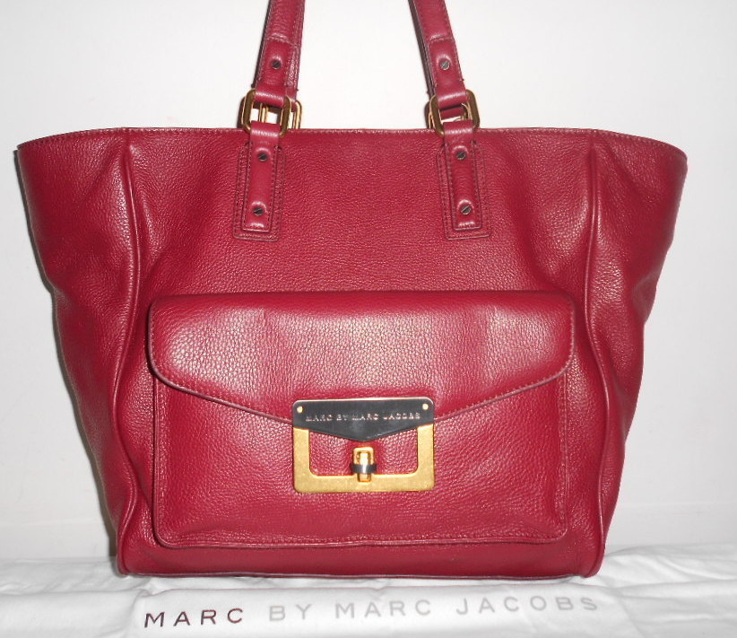NEW MARC JACOBS HANDBAG CHIANTI RED LEATHER BIANCA HAYLEY CLASSIC TOTE NWT $498