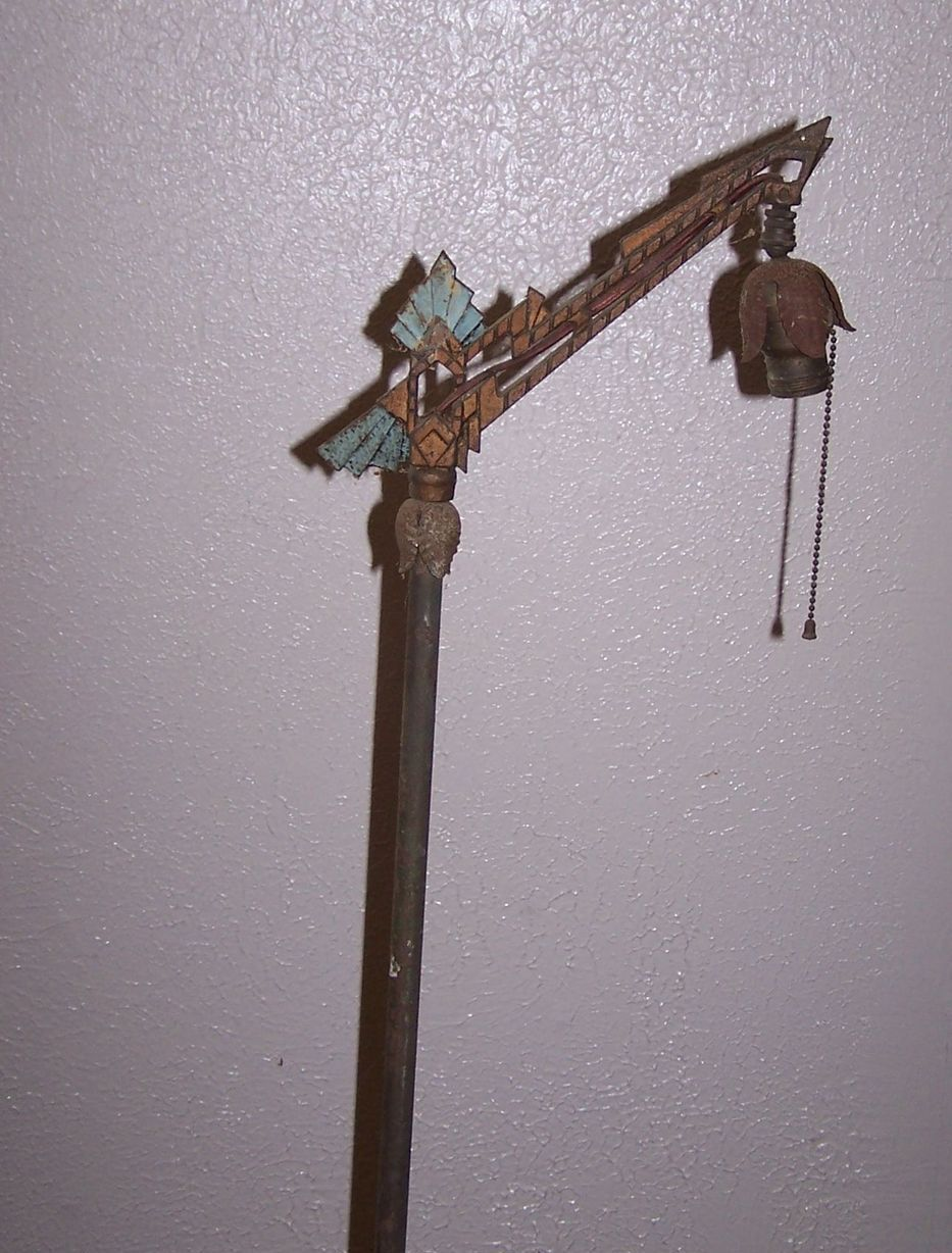 Art Deco Cast Iron Bridge Lamp Floor Lamp