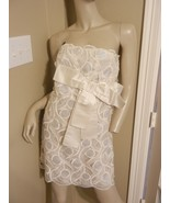 MARC JACOBS $1,200 Ivory Bow Lace Embellished S... - $186.99