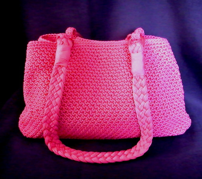 Le Sak Crochet Bags : THE SAK Hand Bag Crochet Purse Shoulder Bag Hot Pink Double Strap ...