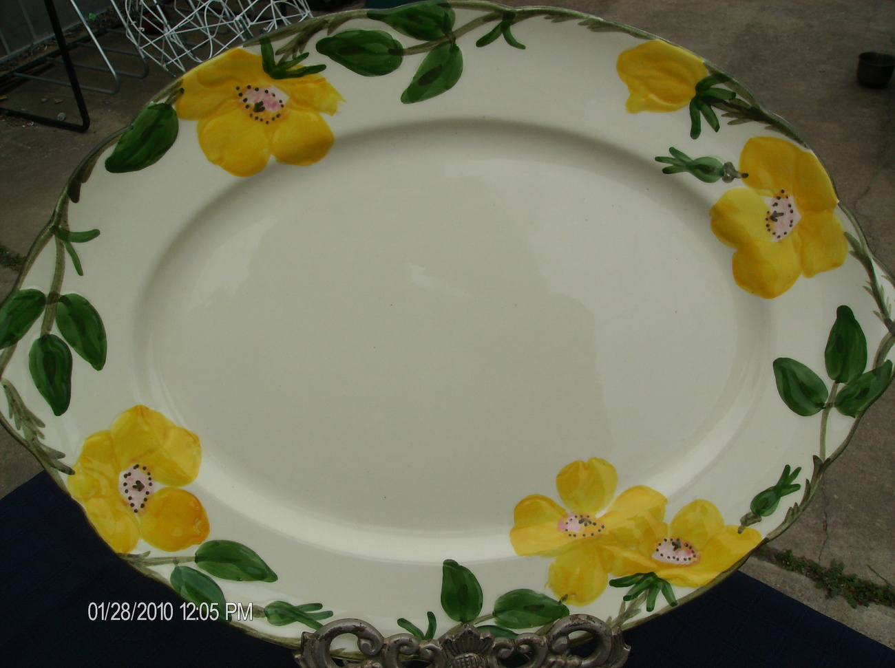 "Franciscan China "" Meadow Rose"" Pattern Platter"