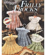 Frilly Frocks Baby Dresses Crochet Patterns Book Annies Attic 5 Designs Infants - $28.99