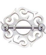 BJ56  Pair of 2 CELTIC Stainless Steel Nipple S... - $11.99