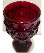 Vintage Avon 1876 Collection Ruby Glass Cape Co... - $12.00