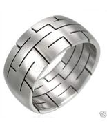 SSR1955 Abstract Line Pattern Stainless Steel R... - $9.99