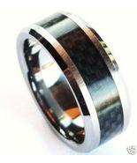 TU3051 Unisex Black Carbon Fiber Tungsten Carbi... - $19.99