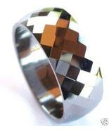 TU3044 - Size 12.5 - Faceted Tungsten Carbide R... - $23.99