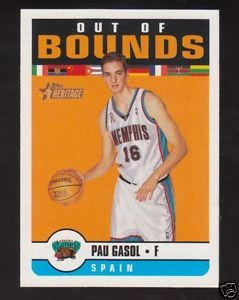Pau Gasol 2001-02 Topps Heritage Out of Bounds insert