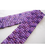 Bracelet: Hand Woven Purple Checkerboard,