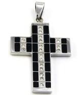 Black Cross Stainless Steel Pendant w FREE SS C... - $18.99