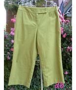 Josephine CHAUS capri PANT bright Chartreuse gr... - $15.08