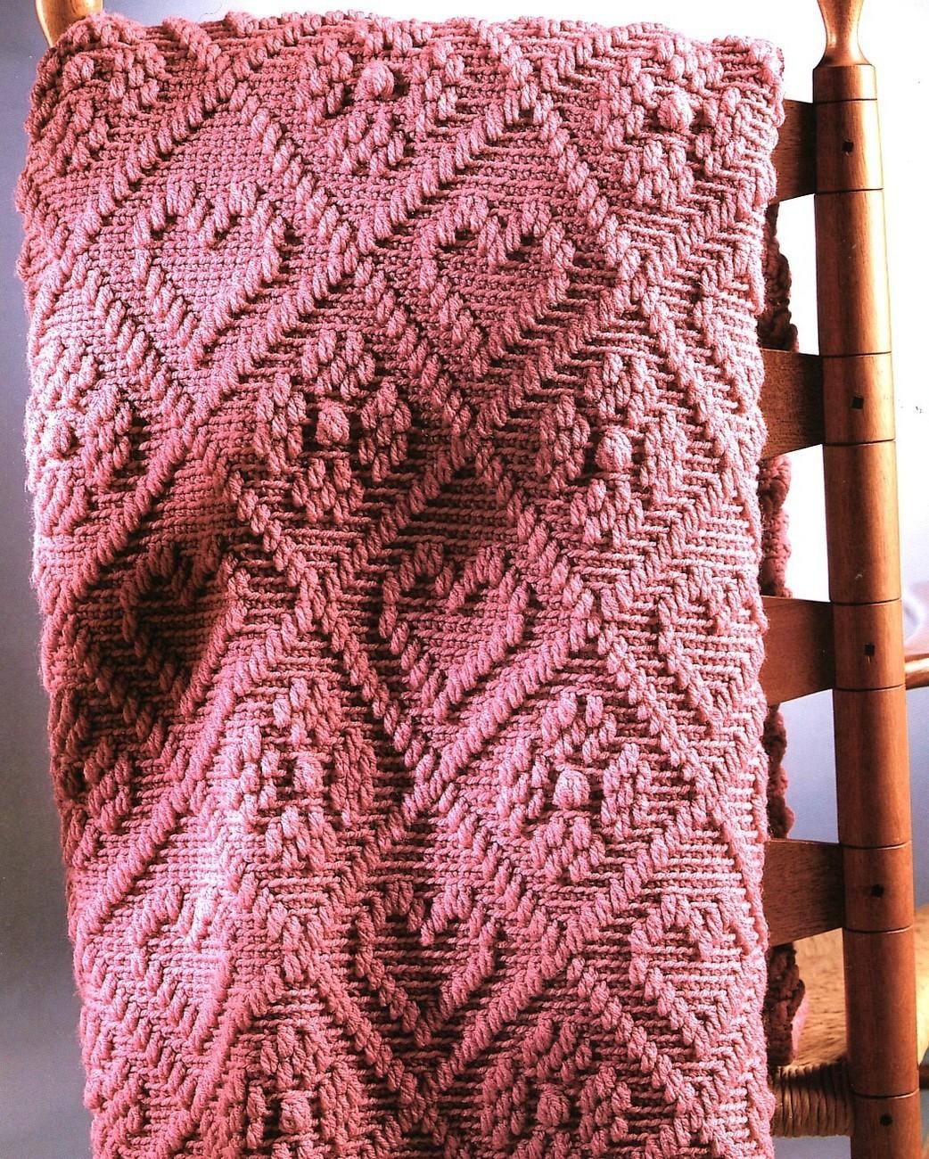 Romantic Rose Afghan Crochet Pattern Blanket Throw Hearts - Afghans