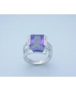 Alexandrite Princess Cut Ladies Fashion Ring Si... - $25.00