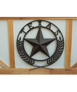 Round Wall Plaque Metal Texas Sign Star Indoor ... - $35.00