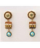 Signed ADAYA Maya Rayten Micro Mosaic Earrings - $39.00