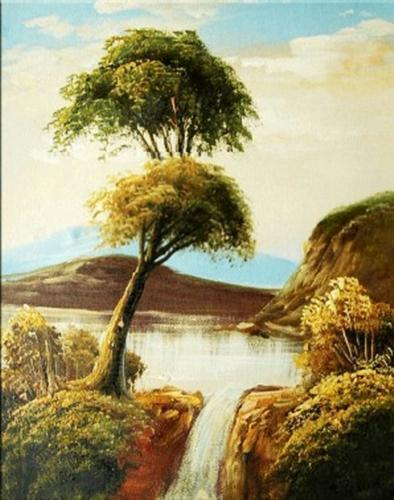 TOPPING TREES - ASAIN OIL PAINTING