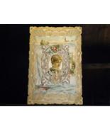 Antique Friendship Card Die Cut Victorian Lady ... - $12.00