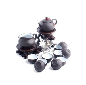 Violet arenaceous kung fu tea set suit 14 pieces