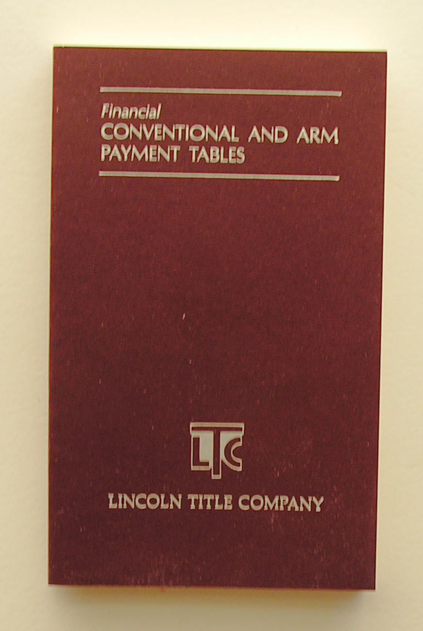 Financial Conventional and ARM Payment Tables Softcover