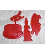 Vintage 70s Tupperware Cookie Cutters incl HTF Bronco Rider 5 Pcs Classic  - $14.00