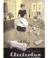 ELECTROLUX Vacuum Cleaner Model R - 1960 User B... - $10.00
