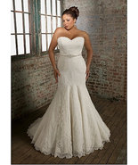 2025 Lace Wedding Dresses / Plus Size Bridal Gowns - $669.38
