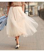 Modern Romantic Princess. Cream Mesh Tulle Full... - $63.00