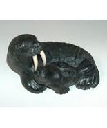 Wolf Original Sculptured Walrus Figure with Baby  - $20.00