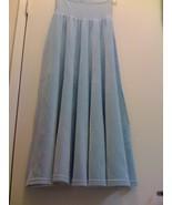 SONIA RYKIEL PARIS ICE BLUE VELOUR SKIRT Small - $55.99