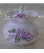 Lilac Pattern, Bone China, Jam Jar  - $25.00