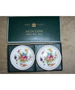 Minton Marlow English Bone China Coasters Boxed... - $19.99