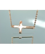 Rose Gold Sideways Cross Necklace - Kelly Ripa