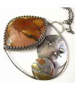 Another World Necklace - Picasso Jasper Solar S... - $210.00