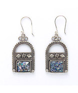 Hand Made Sterling Silver & Anciant Roman Glass... - $59.00